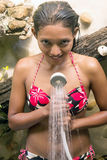 Woman taking a shower Royalty Free Stock Photography