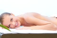 Woman taking spa treatment Royalty Free Stock Photos