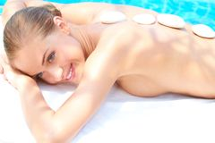 Woman taking spa treatment Stock Photo