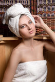 Woman taking spa treatments Stock Images