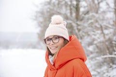 Woman taks a trip winter Royalty Free Stock Photo