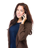 Woman talk on mobile phone Royalty Free Stock Image