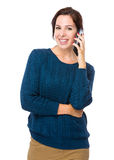 Woman talk on mobile phone Royalty Free Stock Photos