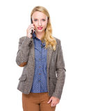 Woman talk to mobile Stock Photos