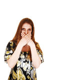 Woman talked to much. Royalty Free Stock Photography