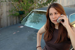 Woman talking. Young woman talking on cell phone Royalty Free Stock Image