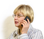 Woman talking on cell phone Royalty Free Stock Photo
