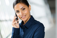 Woman talking cell phone Stock Photo