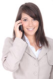 Woman talking on a cell Stock Image