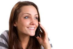 Woman Talking Cellphone Royalty Free Stock Image