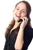 Woman talking on a cellphone Royalty Free Stock Image