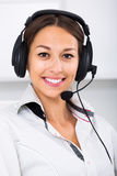 Woman talking with customer Royalty Free Stock Photography