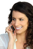 Woman talking on her mobile Stock Photo