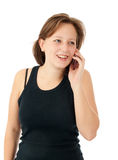 Woman talking on her mobile phone Royalty Free Stock Photo