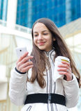 Woman talking on her mobile phone. Stock Image