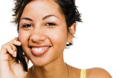 Woman talking on mobile phone Royalty Free Stock Image