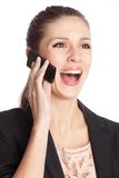 Woman talking on a mobile phone Stock Photos