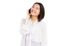 Woman talking on mobile phone Royalty Free Stock Photo