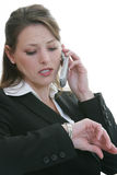 Woman Talking On Cell Phone Royalty Free Stock Photography