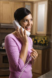 Woman Talking on Phone Stock Photos