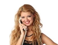Free Woman Talking Phone Stock Photography - 13425942