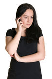 A woman talking on the phone Stock Image