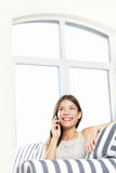 Woman talking on phone Royalty Free Stock Photo