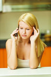 Woman talking on the phone Royalty Free Stock Photography
