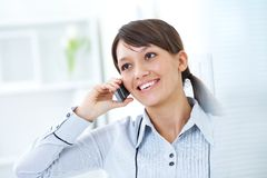 Woman talking  the phone Royalty Free Stock Photo
