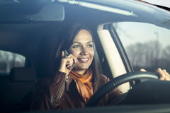 Woman talking on the phone Royalty Free Stock Image
