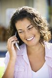 Woman talking on phone. Royalty Free Stock Photos
