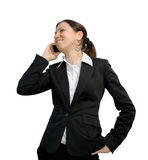 Woman talking on the phone. Business woman talking on the phone Royalty Free Stock Image
