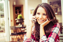 Woman Talking on Phone Stock Photo