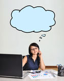 Woman talking on phone Stock Image