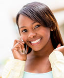 Woman talking on the phone Stock Photography