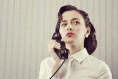 Woman talking on phone Stock Image