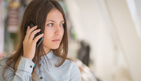 Woman talking on the phone. Stock Photography