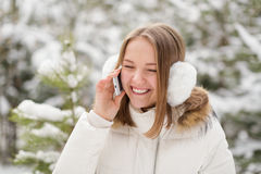 Woman Talking on the Phone Royalty Free Stock Images