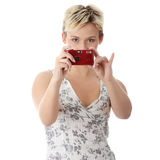 Woman talking a picture Royalty Free Stock Photo