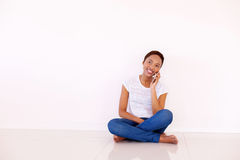 Woman talking on smart phone Stock Photography