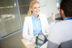 Woman talking Stock Image