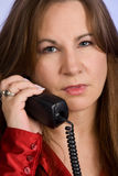 Woman talking on telephone Royalty Free Stock Photo