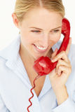 Woman talking on telephone Royalty Free Stock Image