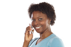 Woman talking on the telephone Stock Photos
