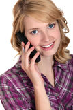 Woman talking on the telephone Stock Image
