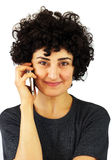 Woman talks on the phone Royalty Free Stock Photo