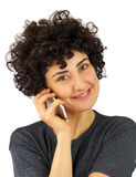 Woman talks on the phone Stock Photos