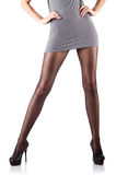 Woman with tall legs Royalty Free Stock Image