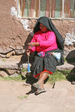 Woman in taquile Royalty Free Stock Photo