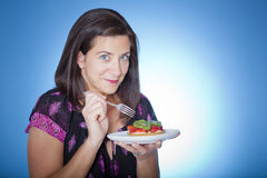 Woman with tart Royalty Free Stock Photo